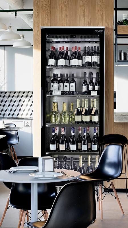 Vitrine à vin design