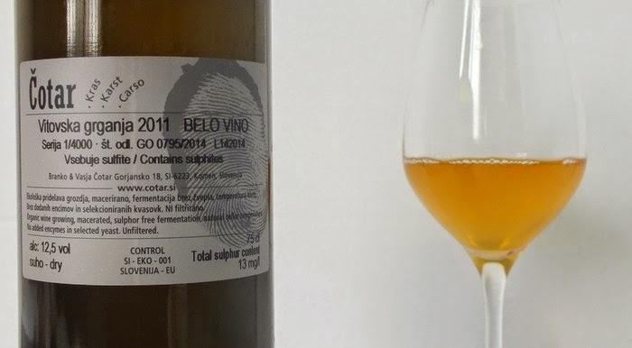 vin orange au verre